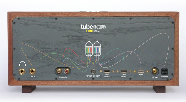 Even with multiple channels of bluetooth and wifi, the Duo comes standard with a Tube Pre'd Headphone Jack, two analog inputs and the entire onboard computer's port array accessible on the back panel