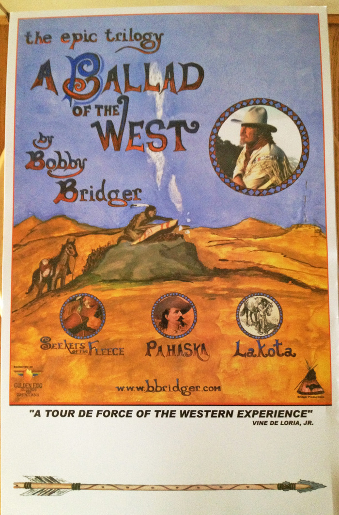 "Autographed color posters featuring Bobby's original artwork for ""A Ballad Of The West"""