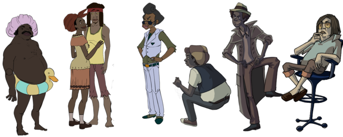 Some of the many characters from the game