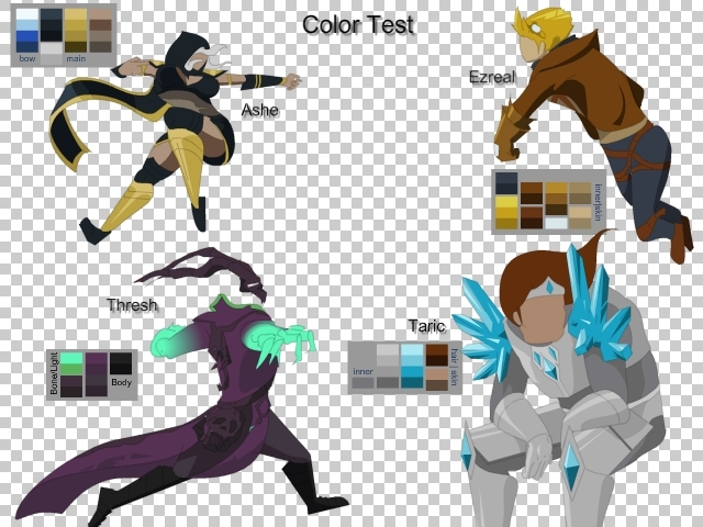 Color samples for Summoner Showdown 2