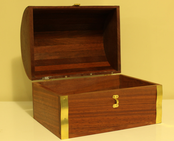 Only 10 of these handmade treasure chests are available
