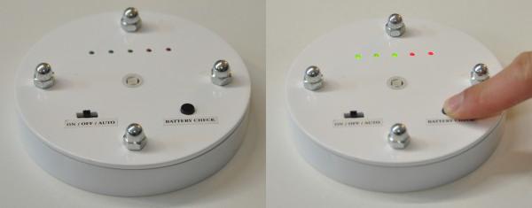 Bottom of Leddie// Battery check (v.alpha)