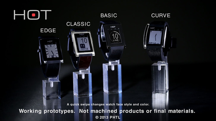 All four styles have identical features. Additionally, the curve is equipped with a flashlight