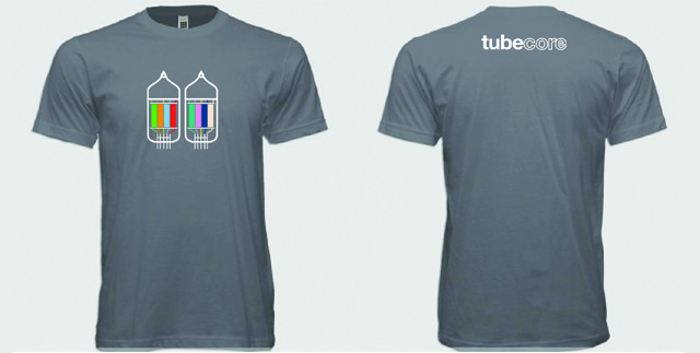 Wear your support with an official tubecore shirt.