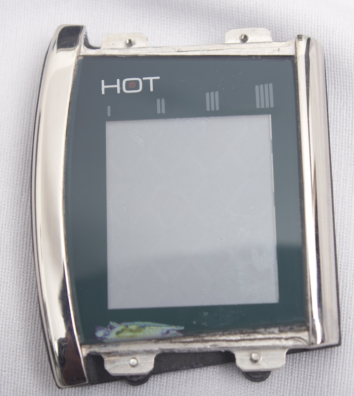 Curve model bezel with electronics integrated