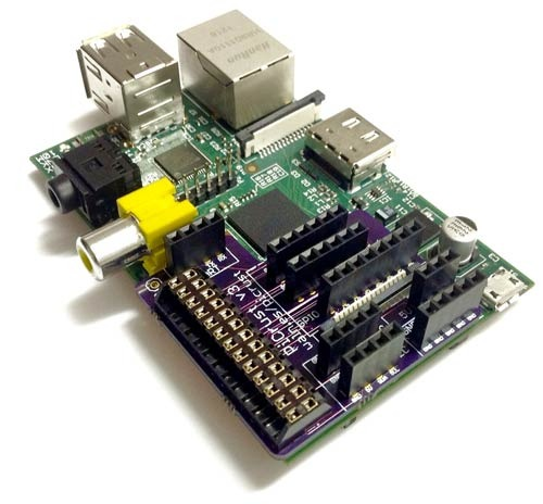 Pi Crust v3 mounted on the Raspberry Pi