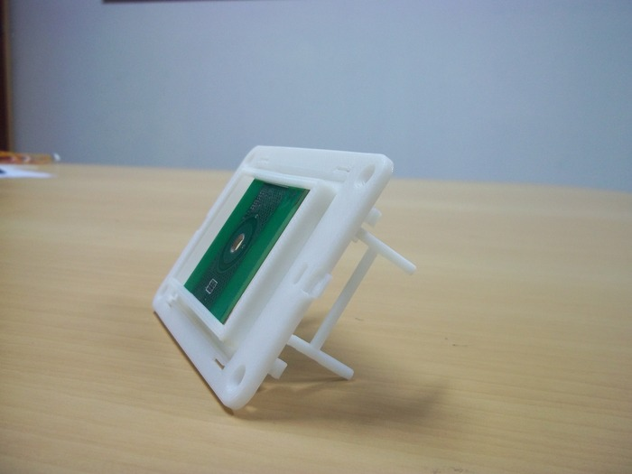 3D printed model with Board mounted