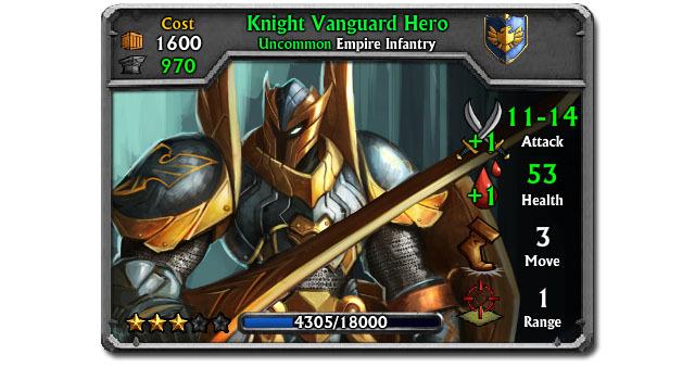 Upgraded Knight Vanguard Unit Card
