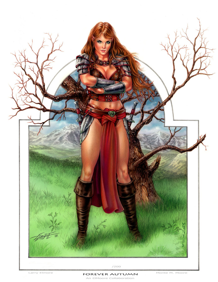 """Forever Autumn"" Collaboration painting from Legendary Artist Larry Elmore and Monte M. Moore, available as a print and the Original Painting!"