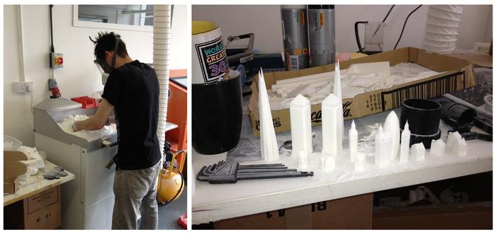 3D printing the prototype set