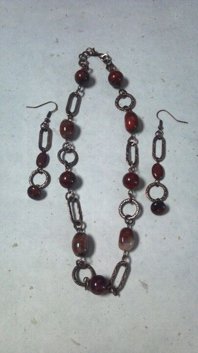 Reward for $150 pledge level - A One-Of-A-Kind Earring & Necklace Set Made From Vintage, Salvaged & Upcycled Materials. Eco Chic Jewelry Designs