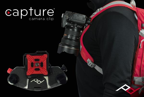 Capture Camera Clip v2: Carry your camera on any backpack strap, belt or bag.