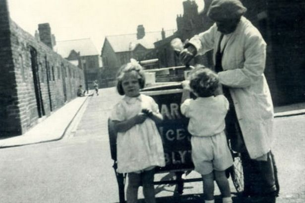 My great Grandfather with his locally famous Ice Cream.