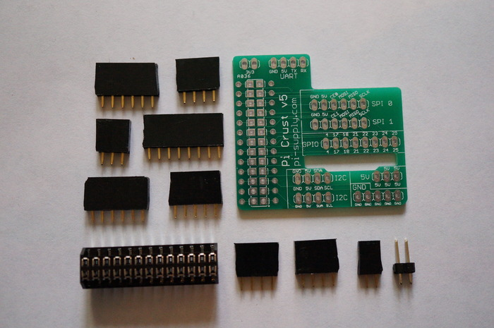 Pi Crust PCB and Components