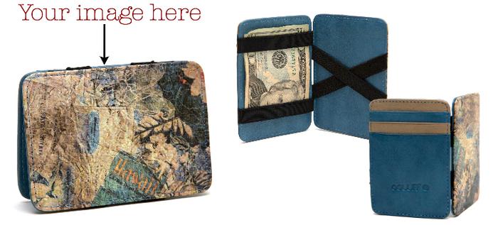 Leather Magic Wallet: RFID Anti-theft Blocking