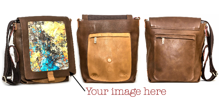 "Leather Crossbody Bag: 55"" Shoulder Strap, Exterior Magnetic Flap, Fits 13"" or Smaller Laptop"