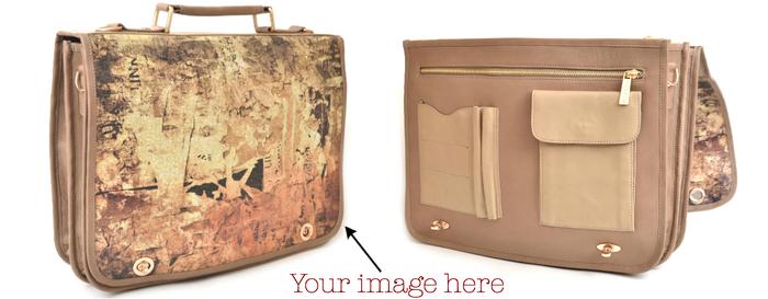 "Leather Messenger Computer Bag: 55"" Shoulder Strap, Double Twist-lock Closure, Fits 15"" or Smaller Laptop"
