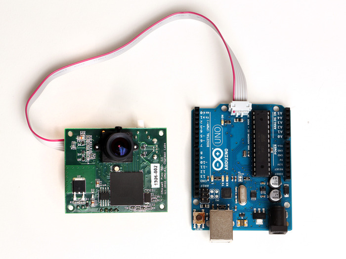 Pixy easily connects to Arduino or other microcontrollers.