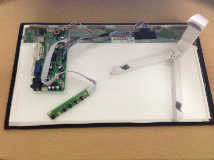 The Able-HD Prototype set with Adapter board, LED panel, TRI-STAND and Charger