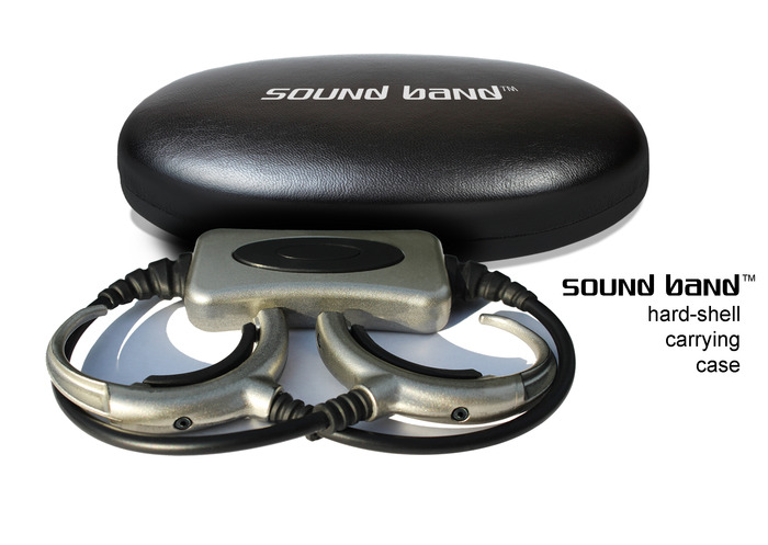 A snazzy hard-shell case to keep your Sound Band safe and secure!