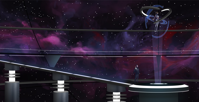 The ARC (Astrogation Resonance Chamber) aboard the Beacon Ship, Unity One