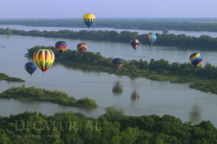 Hot Air Balloons over Decatur, Alabama
