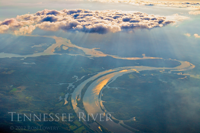 High altitude of the Tennessee River