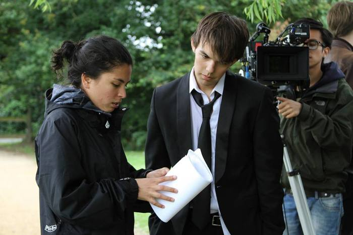Krysten directing her feature film 'All Good Things'. Photo by Kate Connerty