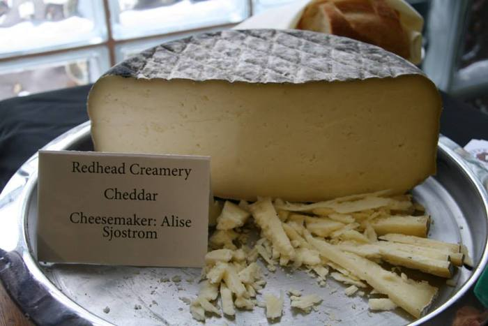 Our [unnamed] ash-rubbed cheddar.