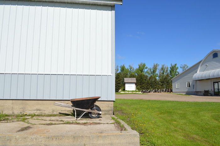 This is the cheese plant's future location, as close to the parlor (on the right) as possible to keep the milk fresh.
