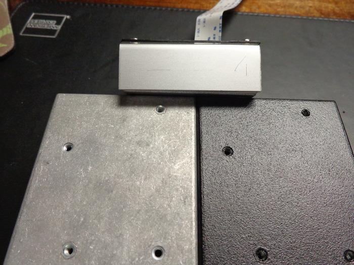 Anodized Pi Focal prototype, Pi Pan RTP pebble finish, Pi Pan powder coat finish