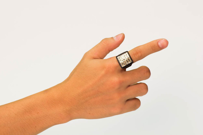a peek at how the Black/Gold Sesame Ring will look on you