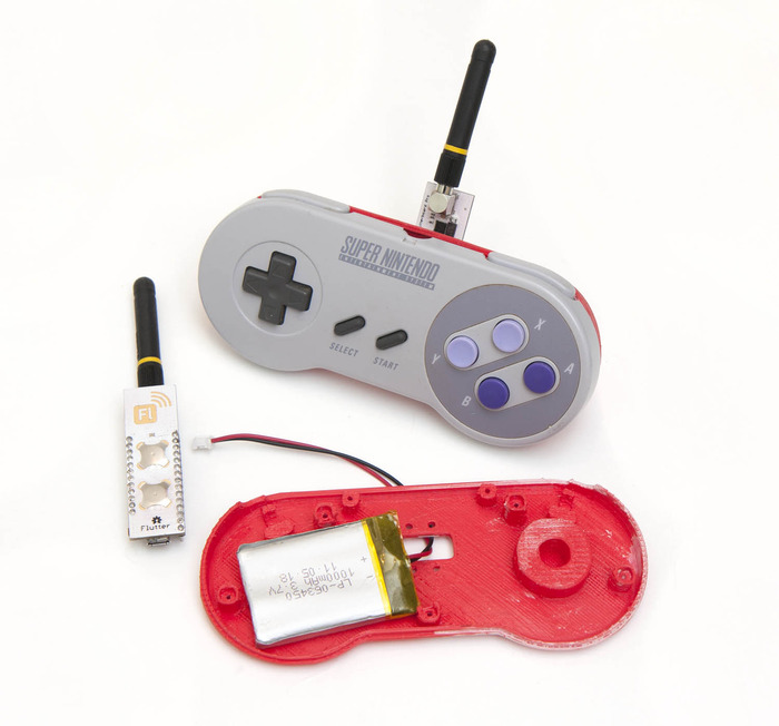 """Our super awesome Nintendo remote. Just 5 wires to solder. Or buy a fully finished one with our """"A Challenger Appears"""" reward level!"""