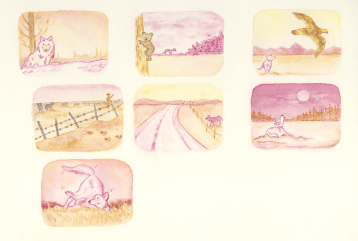 Mini-paintings from the interactive map--also great for stickers! Click on this to see the update about them.