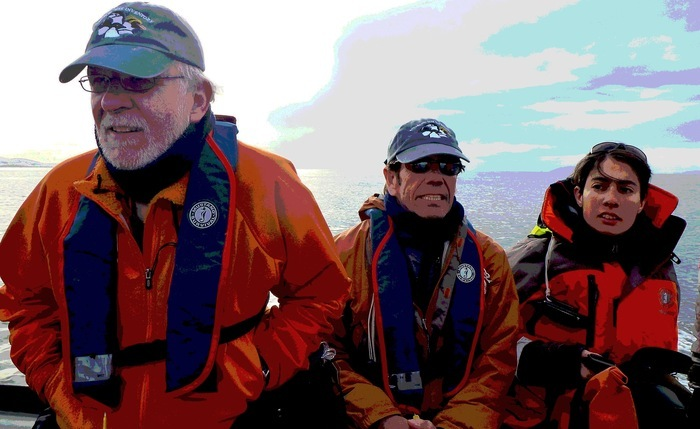 Ron, Steve & Paula searching for a colony of penguins