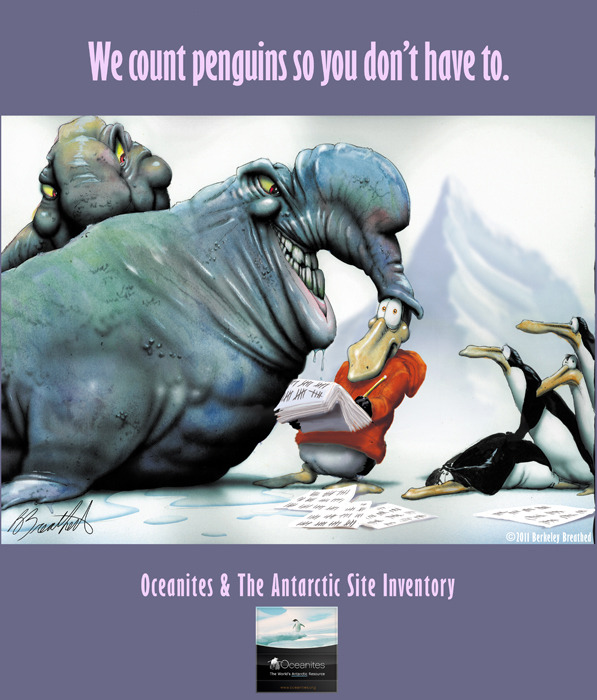 Opus is a penguin with attitude! Poster by Berkeley Breathed