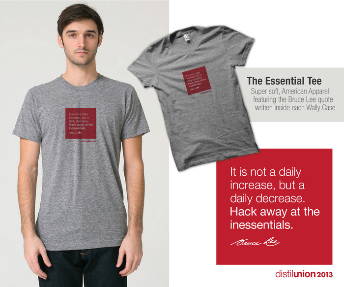 We'll be silkscreening 'The Essential Tee' ourselves!