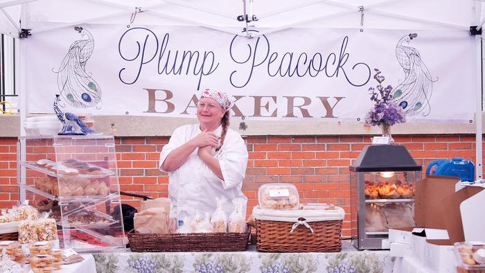 Liz spreading delicious joy at a local Farmer's Market.