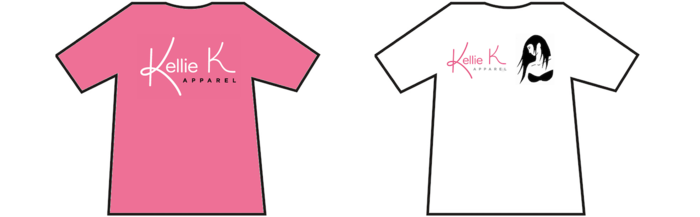 The two Kellie K Apparel t-shirt designs backers can choose