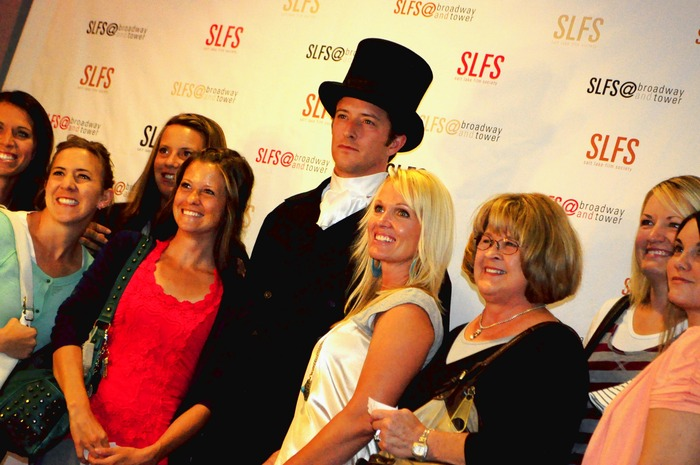 The ladies enjoy SLFS' very own Darcy at the Austenland premiere @ Broadway theatres, August 6, 2013