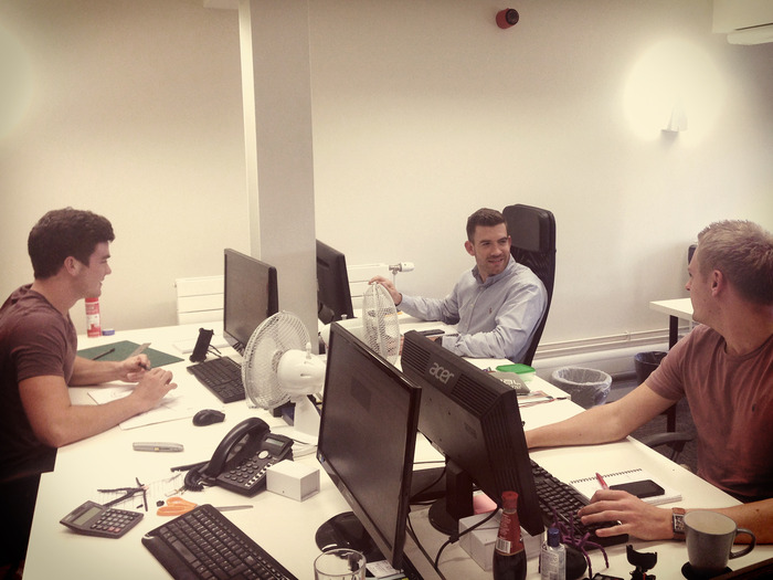 The team at work in the UK office