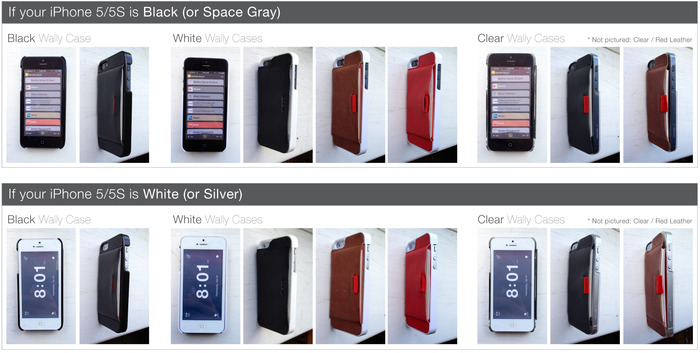Click to enlarge and get a rough idea of what your iPhone might look like in various Wally Cases