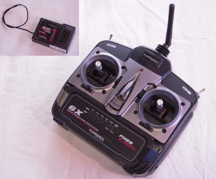 SwitchBlade - 6 channel 2.4GHz spread spectrum radio & receiver