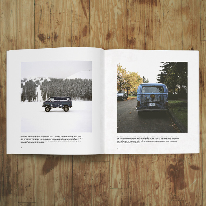 Images for the book are shot on 120mm and 35mm film.