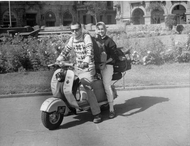 Photo of the two Canadian adventurers from an article published on June 3, 1960 in the Peruvian Times newspaper. (Lima, Peru)