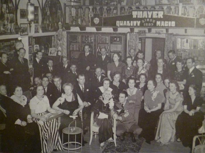 Brookledge in the 1940's (with Bess Houdini and the Larsens)