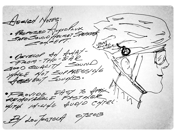 """A first step. All good designs begin with """"a paper napkin"""" sketch."""