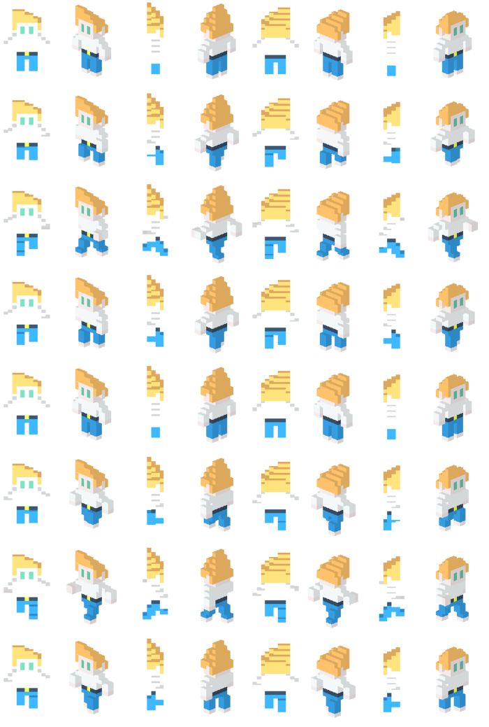 Sprite sheet generated from the 3D animator created by Alex. Sprite sheet generated from the 3D animator created by Alex.