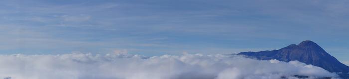 Clouds over the Tajumulco volcano - Photo by Bea Gallardo