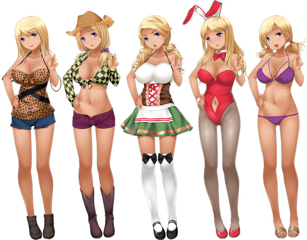 A demonstration of the customizable outfits, hairstyles and shoes (you can mix & match)!